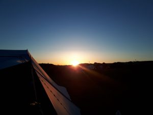 zonsondergang op Vlieland