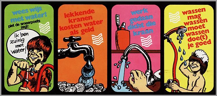 Campagne uit de jaren 80 wees wijs met water