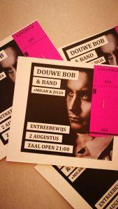 Concert van Douwe Bob in de Bolder. Sinds het begin van onze vakantie op de dingendoenlijst.
